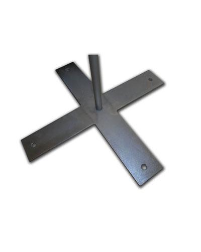 Kreuzfuß/Stahl